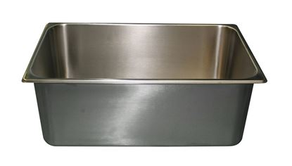 "Picture of Model B106, s/s full pan, 8"" deep, 1/1 lug without hole"
