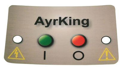 Picture of Model B531, Mylar control board sticker for B530