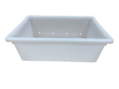 Picture of 5004526-071, white plastic tub with holes